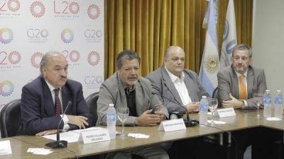 Se lanzó el G20 de los sindicatos con un reclamo al Gobierno: