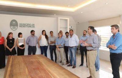 Jorge Capitanich presentó su nuevo gabinete municipal