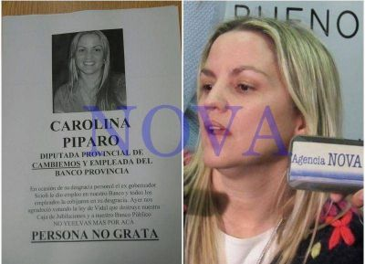 Trabajadores del Banco Provincia se sintieron traicionados por Carolina Píparo y la declararon