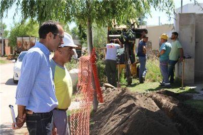Comenzó a ejecutarse la segunda etapa de la obra de gas en barrio Los Troncos