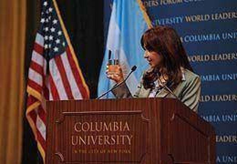 Cristina instó a reformular organismos internacionales