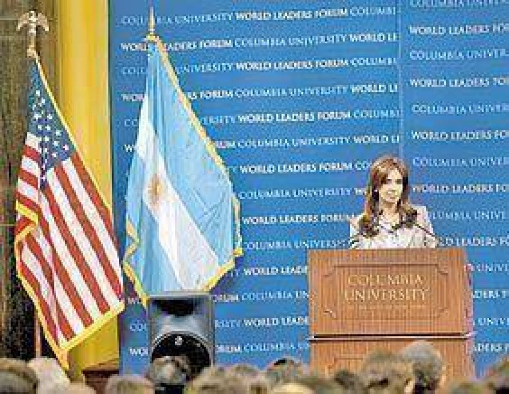 Cristina defendió la marcha de la economía y la ley de medios