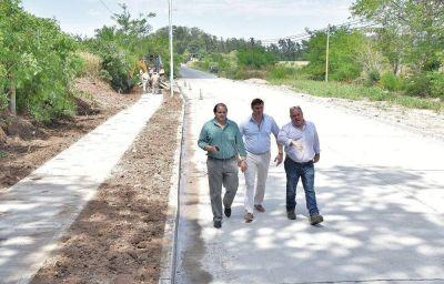 Inauguraron la repavimentación de un tramo de calle Alsina