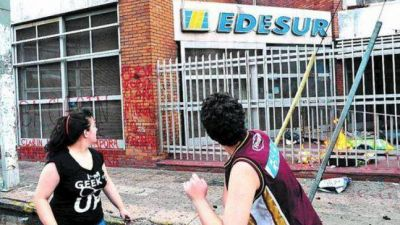 Región: bronca contra EDESUR porque tuvo 42 mil hogares sin luz