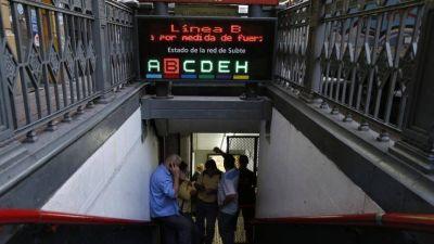 Metrodelegados anunciaron paro total de la línea B desde las 00 hs del jueves