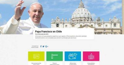 Información para los argentinos que viajarán a Chile durante la visita del Papa