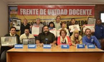 Desde el Frente Unidad Docente buscan frenar el recorte a los trabajadores sin título habilitante