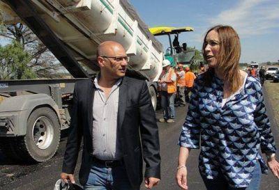 Balcarce: Reino y Vidal recorrienron obra de repavimentación de la ruta 29