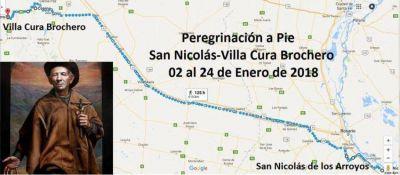 Los fieles de San Nicolás caminarán 640 kilómetros al santuario del Cura Brochero