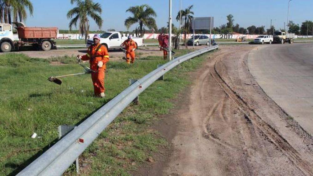 Realizaron un importante operativo de limpieza en la zona sur de la ciudad