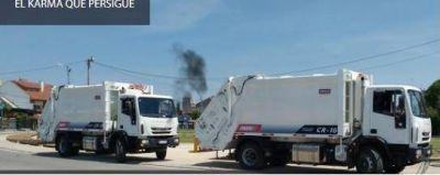 Mar Chiquita: Ronda presento dos camiones nuevos y tres dias despues uno se rompe