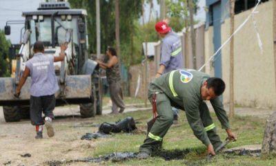 El Municipio realiza obras hidráulicas en barrios de Del Viso