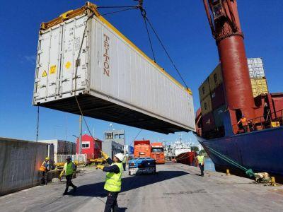 Sigue creciendo el comercio exterior desde el puerto de Mar del Plata