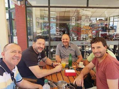 Garate se reunió con el titular del PJ bonaerense en Necochea
