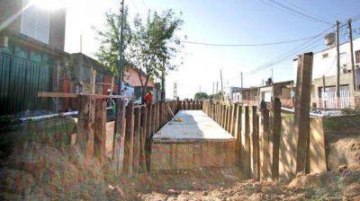 La ciudad sumó más de 38 kilómetros de desagües en seis años