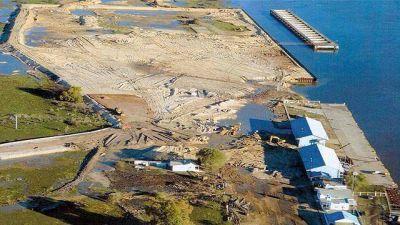 Verifican las obras para habilitar el puerto Ibicuy
