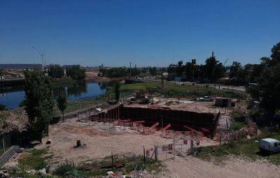 CONTINÚA LA CONSTRUCCIÓN DE UNA NUEVA ESTACIÓN DE BOMBEO EN VILLA JARDIN