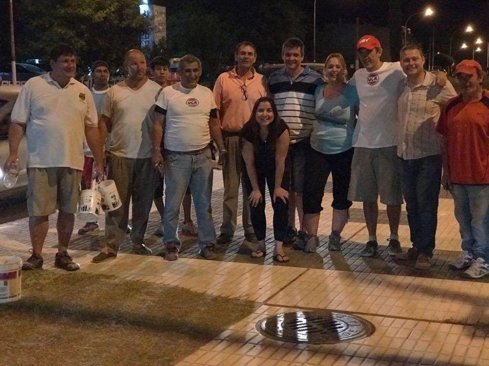 El intendente y sus funcionarios, de limpieza por la ciudad
