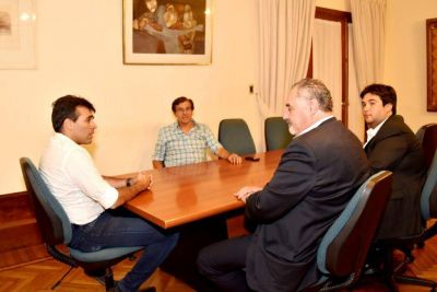 López recibió al flamante rector de la Universidad Nacional de Mar del Plata