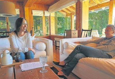Macri recibió a Vidal en Villa La Angostura y la invitó a ir a Davos