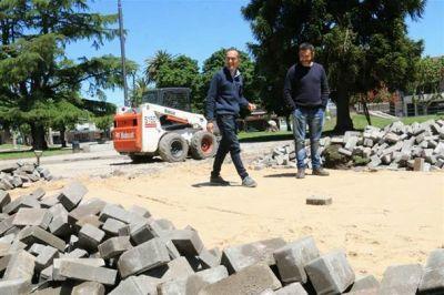 """""""Las veredas de plaza Mitre eran un reclamo constante con el que pudimos cumplir"""""""