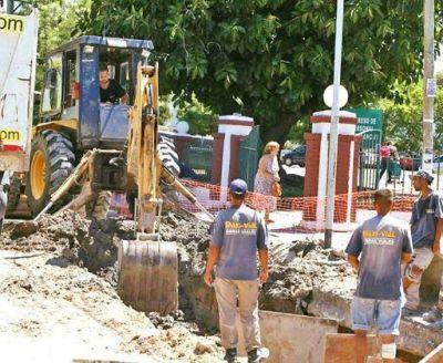 La Comuna construye desagüe pluvial en Sarandí
