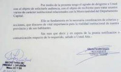 Paredes busca retomar el dialogo institucional con Casas