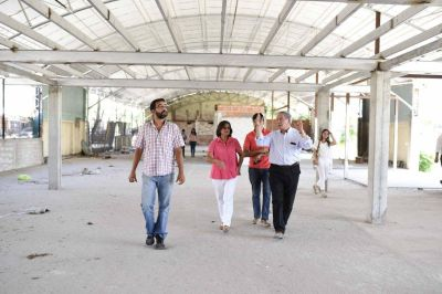 La Gobernadora recorrió obras del ISAC y de la Manzana del Turismo
