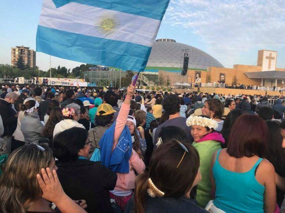 El fervor de los argentinos en el Parque O'Higgins