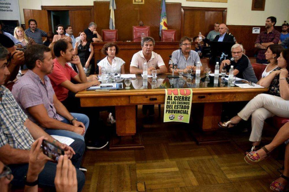 La oposición respaldó el reclamo de los casineros en el Concejo