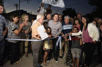 Nardini inauguró una obra integral en Villa de Mayo