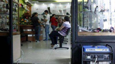 Los cortes de luz están fundiendo a los comerciantes de zona sur