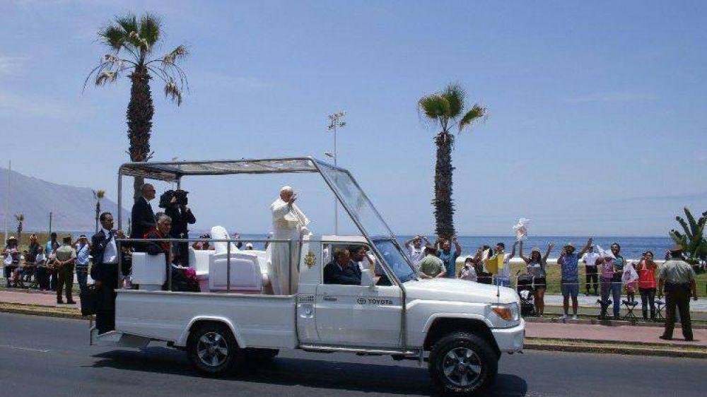El Papa encontró a víctimas de la represión de los '70