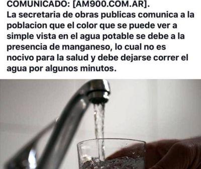 25 de Mayo: denuncian que el agua de red no es potable