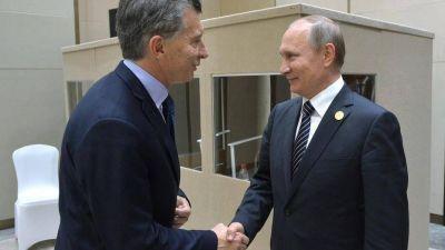 ARA San Juan, minería y trenes, los ejes del encuentro entre Macri y Putin
