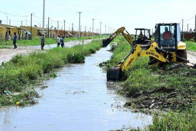 Inmediata asistencia de la comuna a los barrios más afectados por las precipitaciones