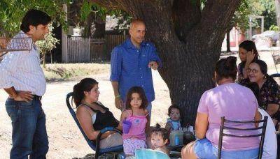 El Intendente Ducoté visitó obras en el barrio Luchetti