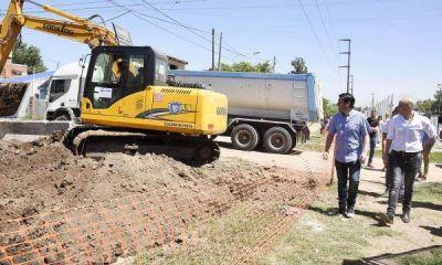 Gran avance para Tierras Altas: obra hidráulica del Barrio Iparraguirre