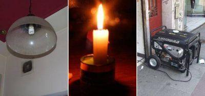 En la Región, 13 mil hogares sufrieron cortes de luz