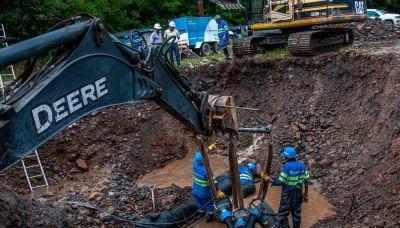 Una rotura en el acueducto norte dejó sin agua a más de 20 barrios
