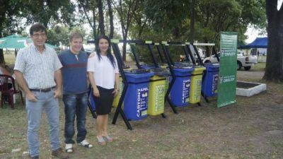 El municipio recibió estaciones ambientales para la separación de residuos