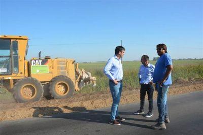 Mosca y Pisano ratificaron la obra de la ruta 65 hasta Bolívar