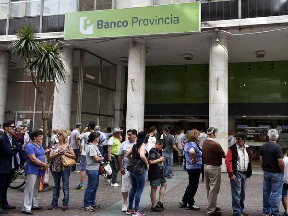 Trabajadores del Banco Provincia resolvieron parar el 1, 2, 8 y 9 de Febrero
