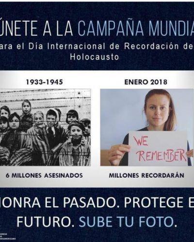 CJL. Se lanza campaña de recordación a víctimas del holocausto