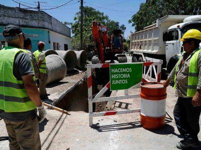 Comenzaron las obras hidráulicas para la repavimentación de la avenida Vergara