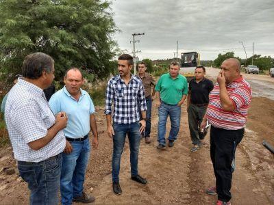 Julio Martínez visita la obra de Ruta 79 y se reúne con productores y cooperativistas