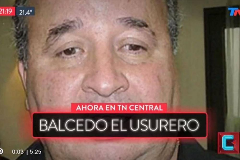 Informe periodístico asegura que mutual manejada por Balcedo prestaría dinero con 70 a 108% de interés