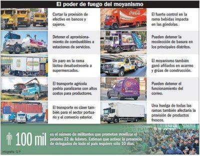 Amenazan con 'llenar' la Ciudad de camiones si encarcelan a su líder
