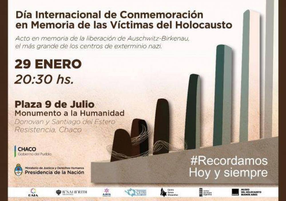Acto en Chaco en memoria de las víctimas del Holocausto