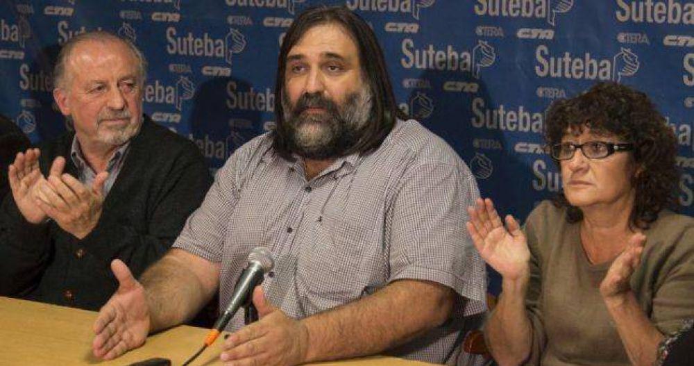 """Baradel advirtió que los docentes rechazarán """"de plano"""" un 15% en paritarias"""